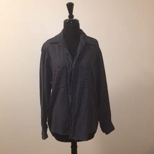Ike Behar Button down plaid shirt size med